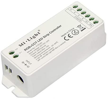 MiLight MiBoxer RF Zóna Vezérlő RGB CCT LED Szalaghoz 5 Csatornás 12V-24V 12A 144W/288W FUT039 LC-MLRGBCCTRF