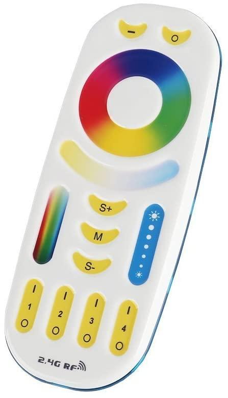 MiLight MiBoxer RF Távirányító 4 Zónás RGB CCT/RGBW/RGB/CCT/Fehér 1-5 Csatornás Zóna Vezérlőhöz FUT092 (mindennel kompatibilis) LC-MLRGBCCTRFR