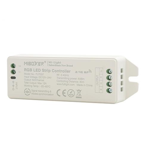 MiLight MiBoxer RF Zóna Vezérlő RGB LED Szalaghoz 3 Csatornás 12V-24V 12A 144W/288W FUT037 LC-MLRGBRF