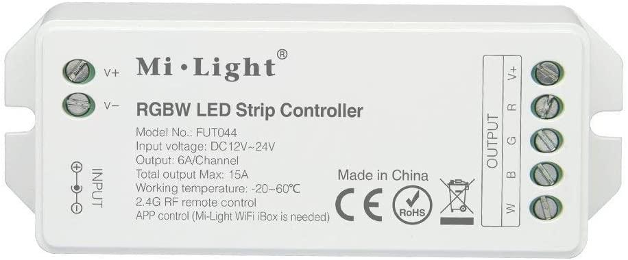 MiLight MiBoxer RF Zóna Vezérlő RGBW LED Szalaghoz 4 Csatornás 12V-24V 12A 144W/288W FUT038 LC-MLRGBWRF