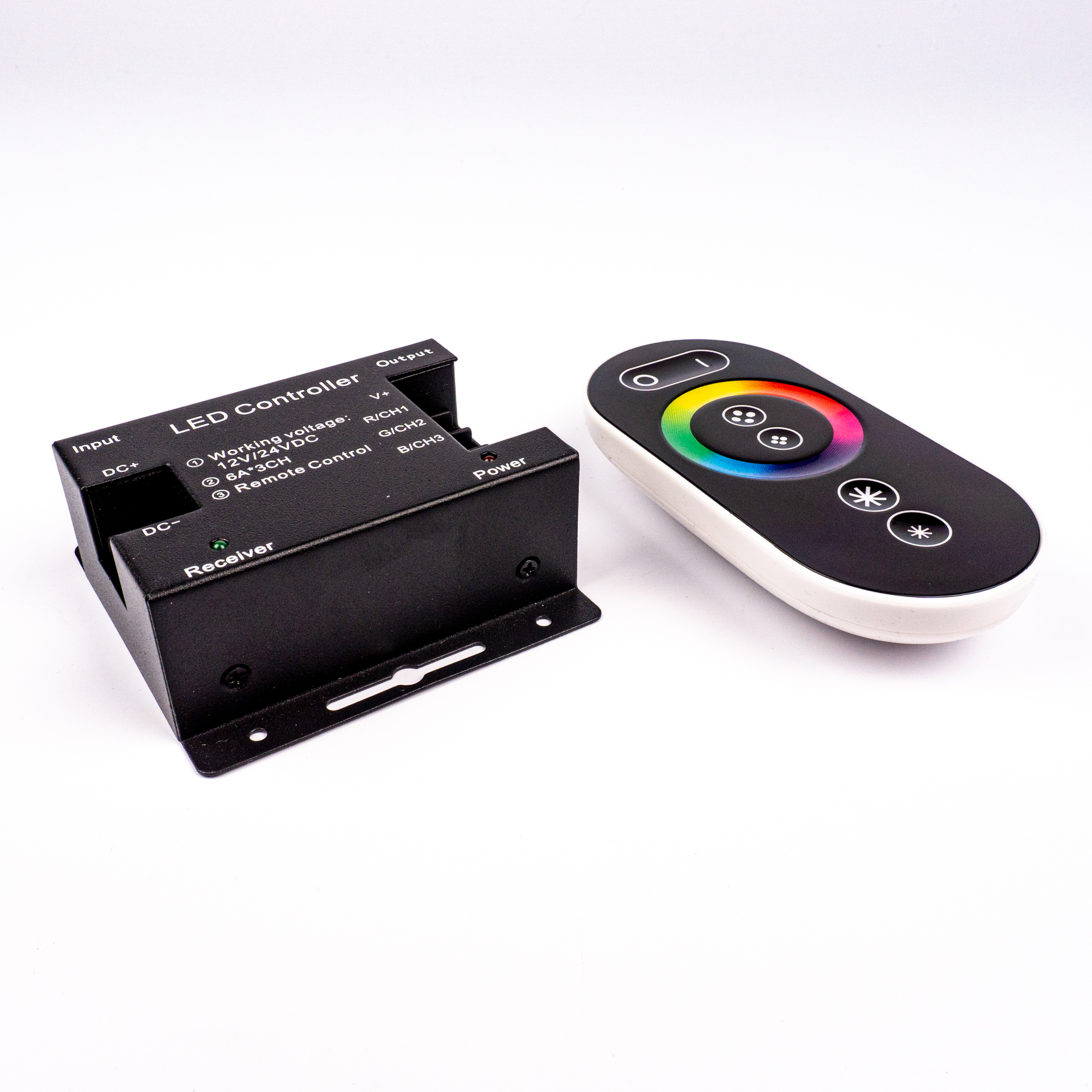 LED Szalag Vezérlő Touch RGB 3 Csatornás RF 12V-24V 18A 216W/432W LC-TRGBRF