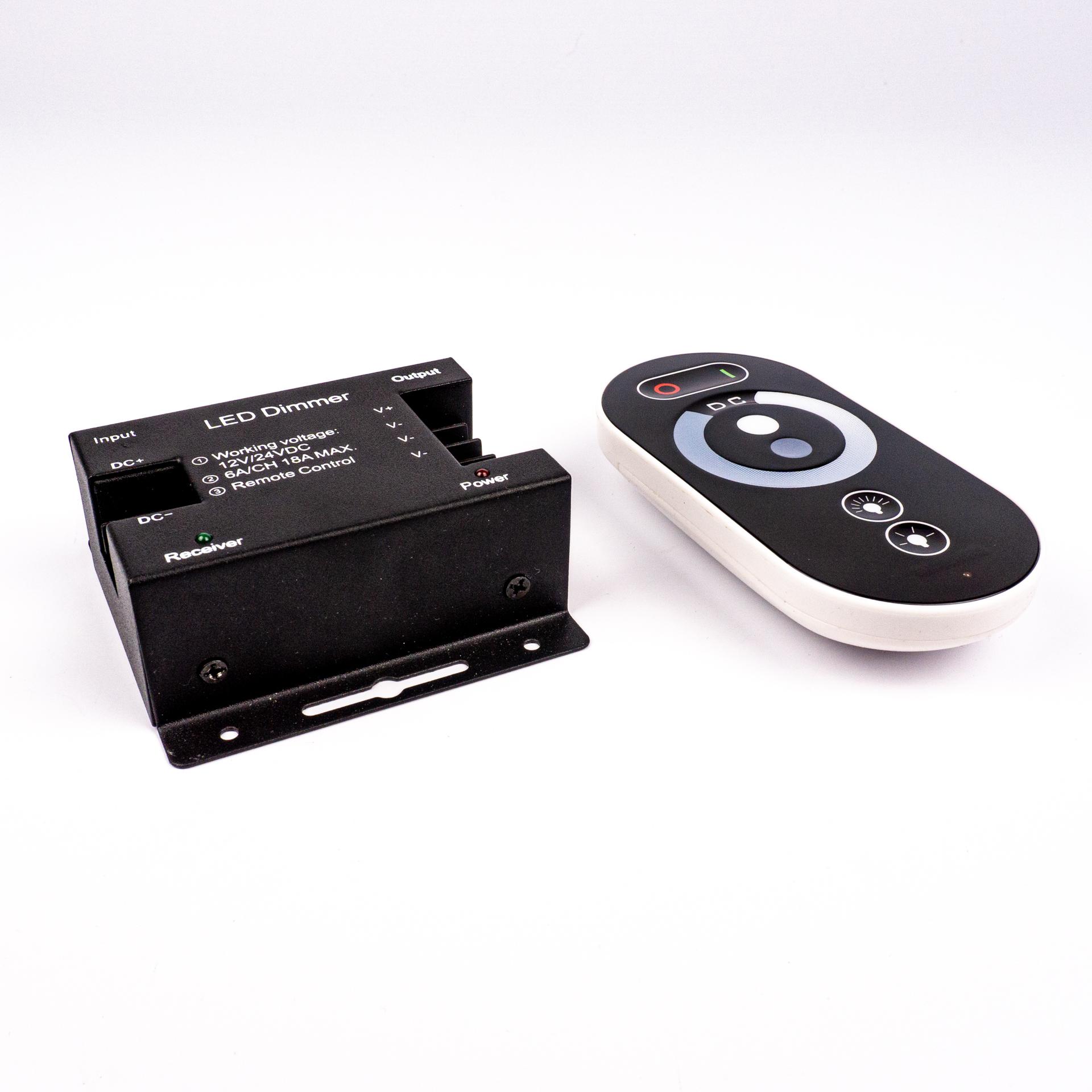 LED Szalag Vezérlő Touch Fehér 1 Csatornás RF 12V-24V 18A 216W/432W LC-TWRF