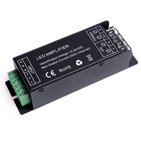 LED Jelerősítő Fehér LED Szalag Vezérlőhöz 1 Csatornás 12V-24V 25A 300W / 600W LCA-W300