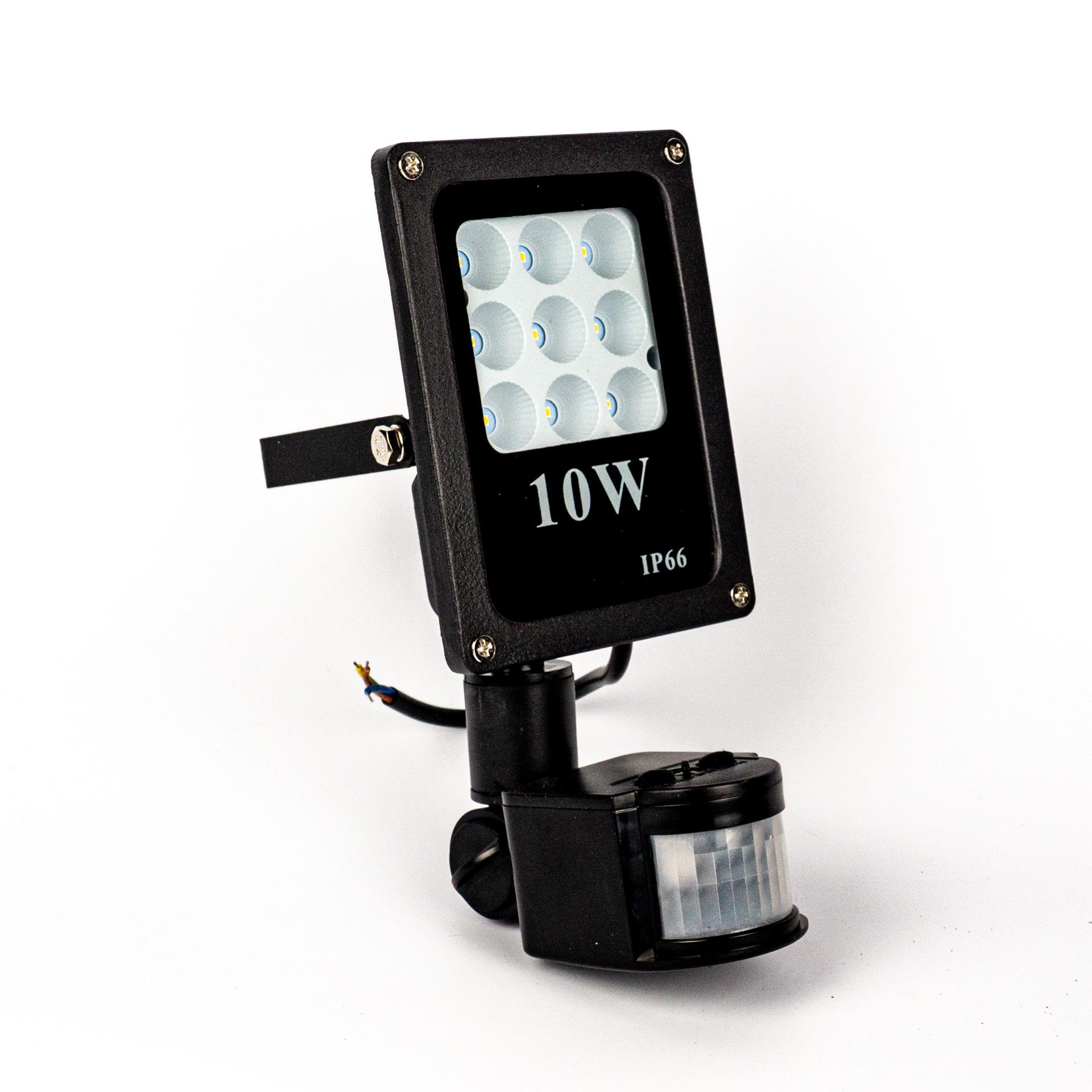 LED Reflektor Prémium 10W Mozgásérzékelővel Meleg Fehér LF-P10S