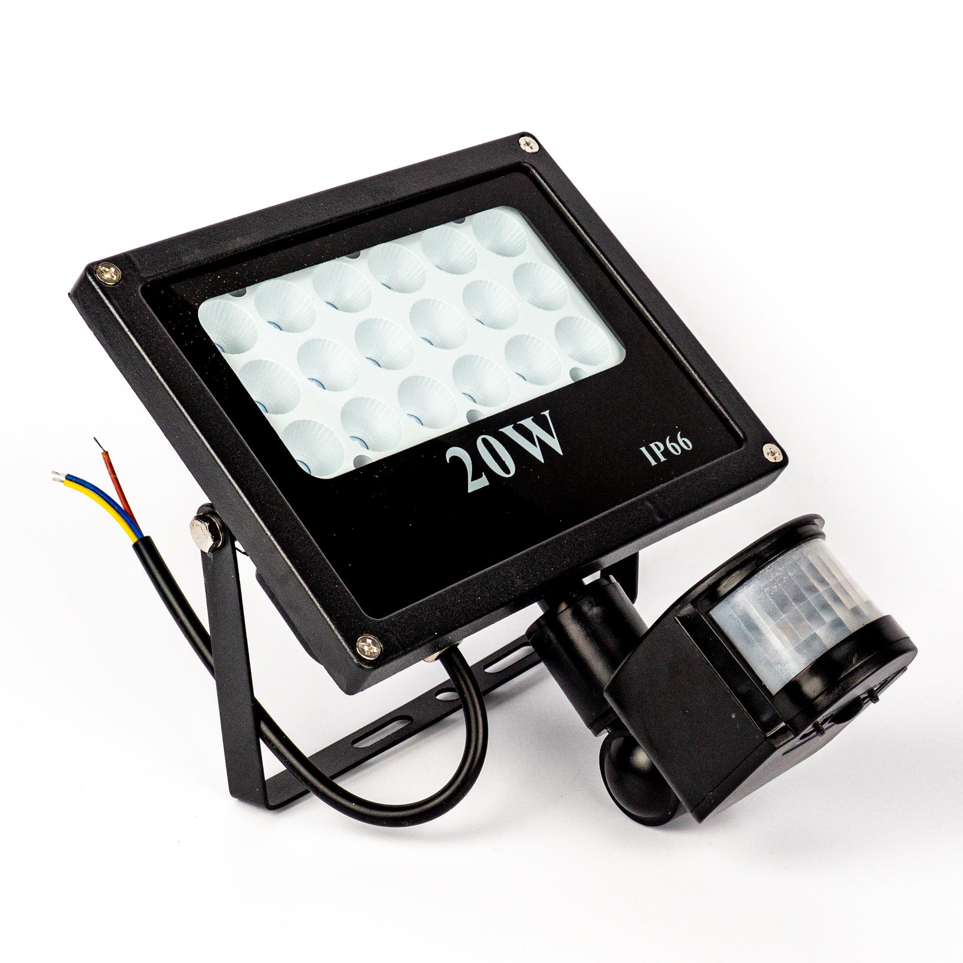 LED Reflektor Prémium 20W Mozgásérzékelővel Meleg Fehér LF-P20S