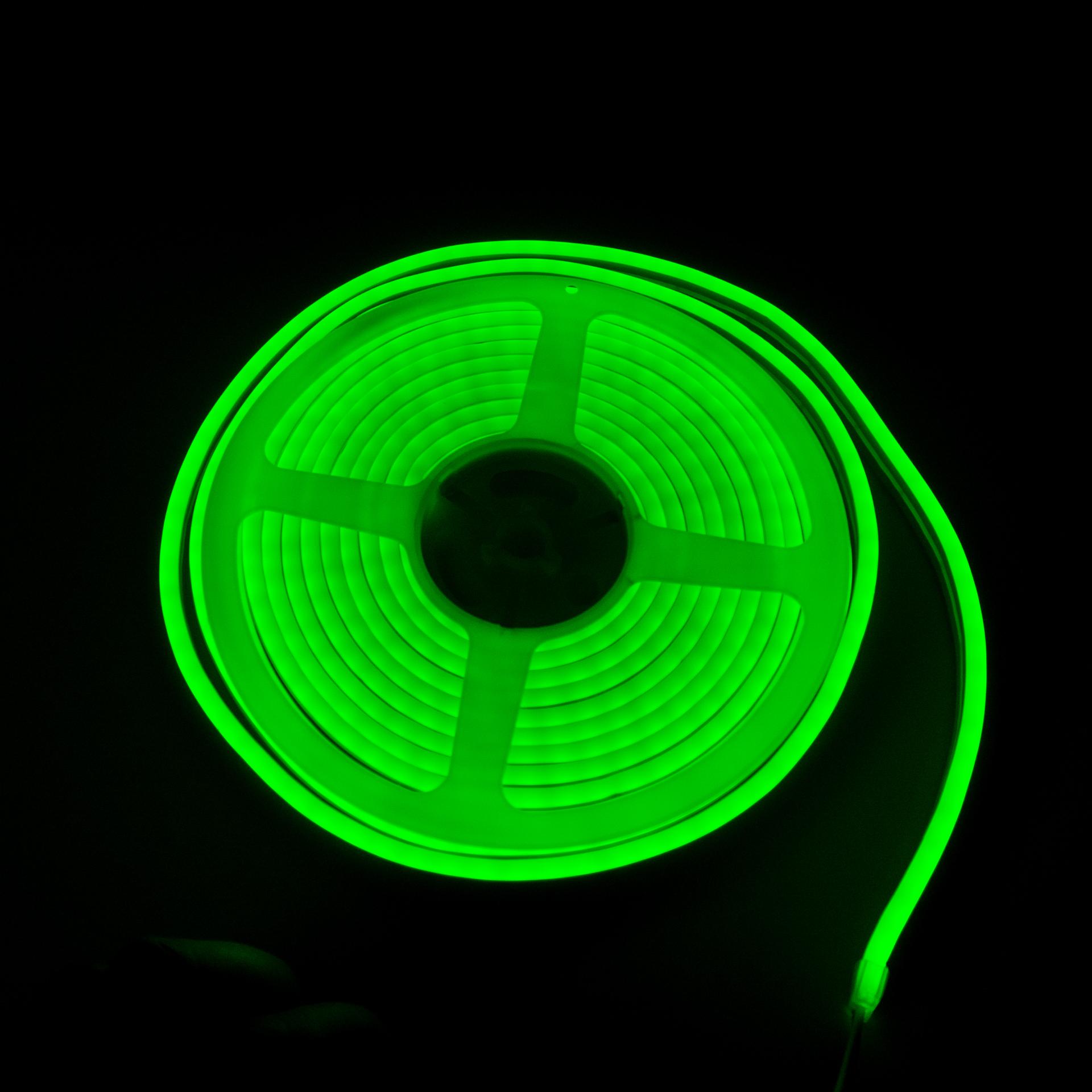 LED Neon Flex IP65 12V Zöld Flexibilis Neon Csík Dimmelhető LN-512G