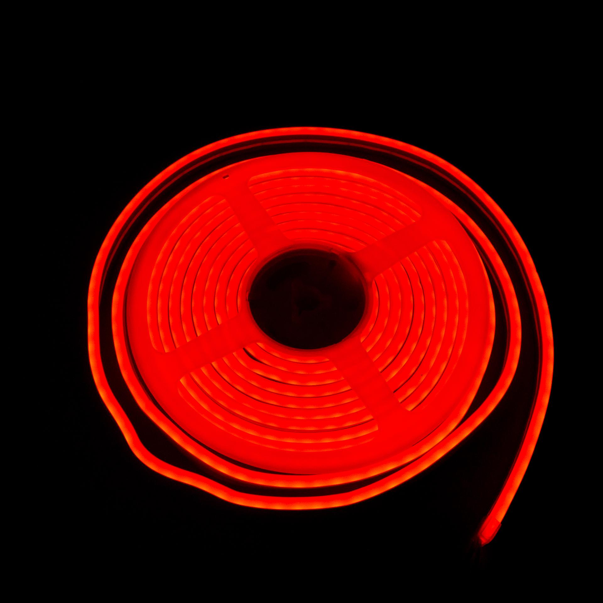 LED Neon Flex IP65 12V Piros Flexibilis Neon Csík Dimmelhető LN-512R
