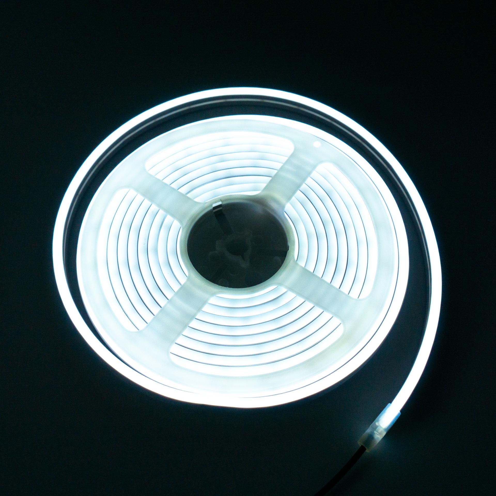 LED Neon Flex IP65 12V HIDEG FEHÉR Flexibilis Neon Csík Dimmelhető LN-512W