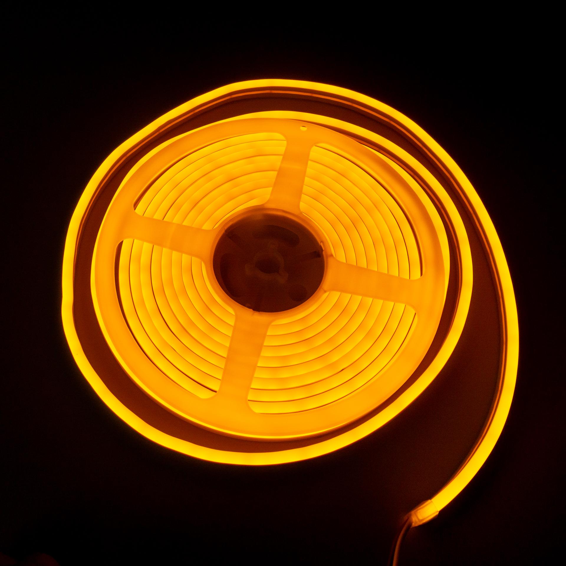 LED Neon Flex IP65 12V Sárga Flexibilis Neon Csík Dimmelhető LN-512Y
