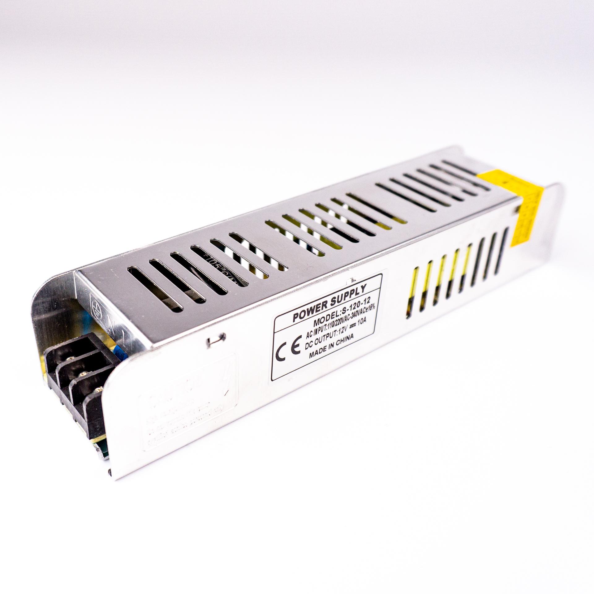 LED Tápegység Fém Házas Ipari 12V 10A 120W LP-10A