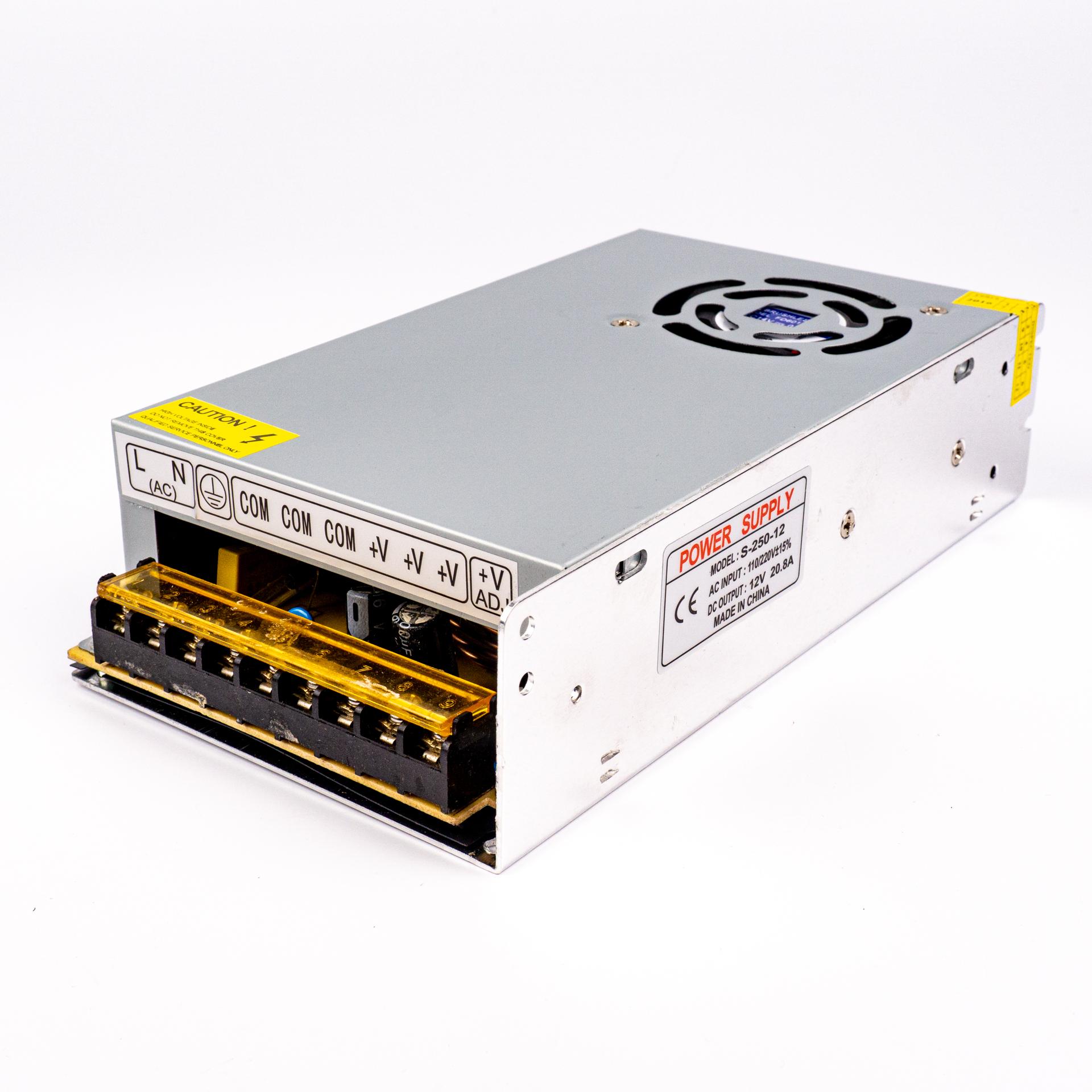 LED Tápegység Fém Házas Ipari 12V 20A 240W Ventilátoros LP-20AV