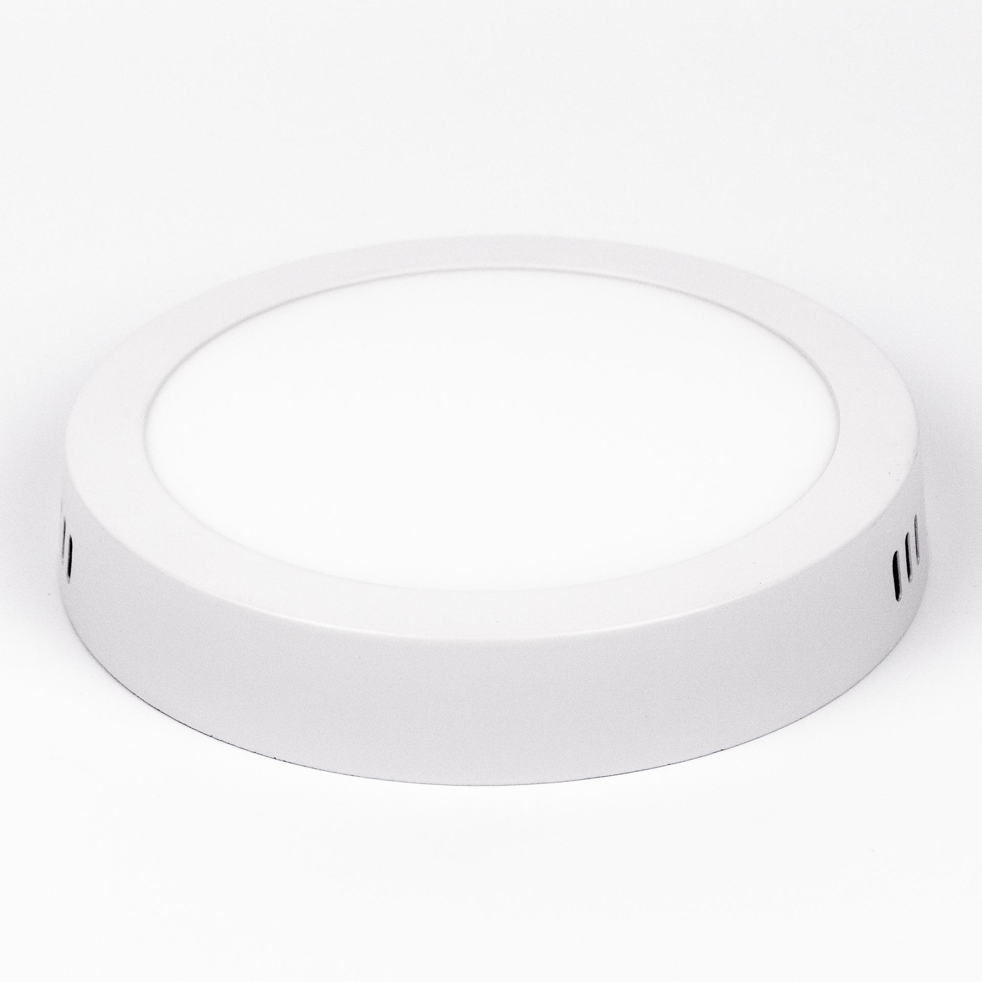 LED Panel Falon Kívüli 12W Kör Meleg Fehér