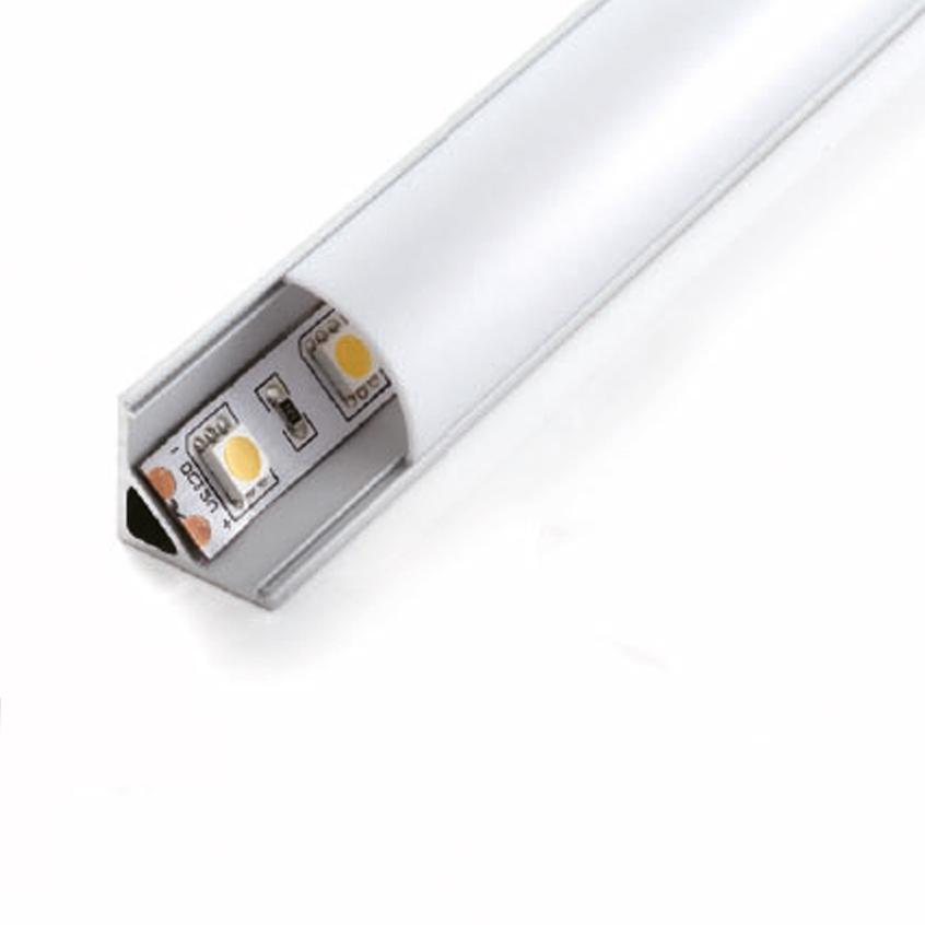 Alu Sarok Profil LED Szalaghoz Opál Borítással LPR-245O