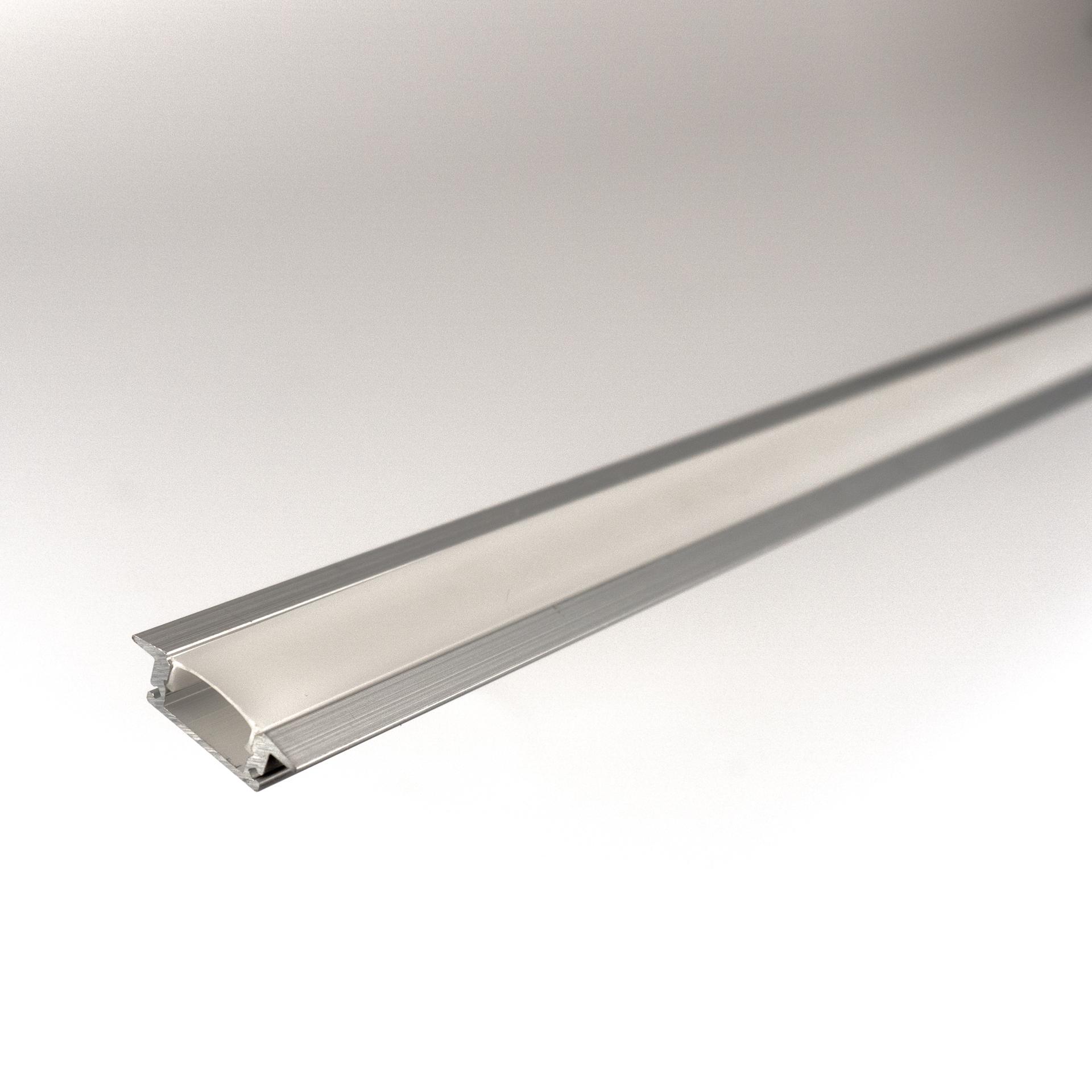 Alu Süllyeszthető Profil LED Szalaghoz Opál Borítással LPR-2SO