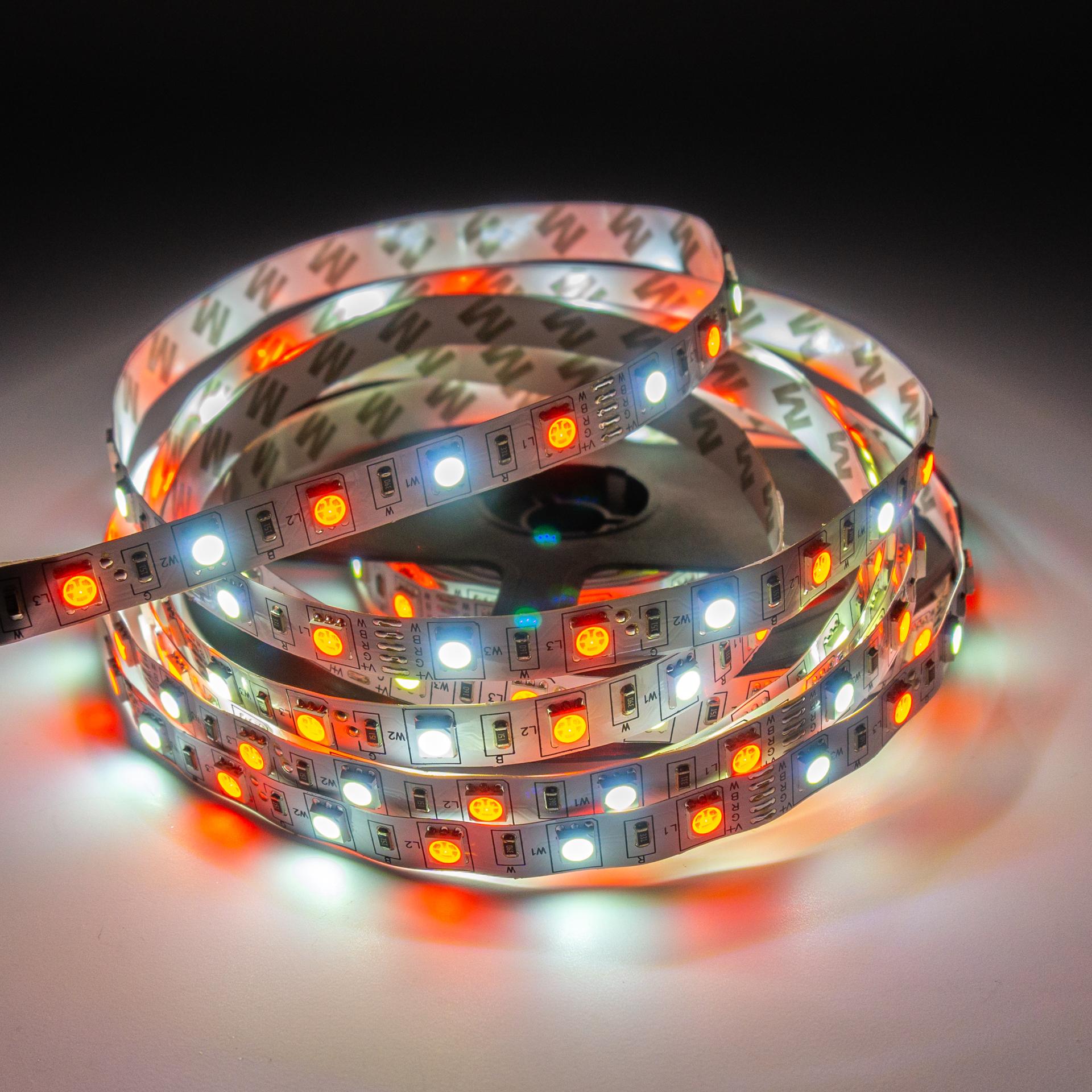 LED Szalag Beltéri 5050 60 LED/M 12V RGBW Színes és Hideg Fehér LS-5RGBW20