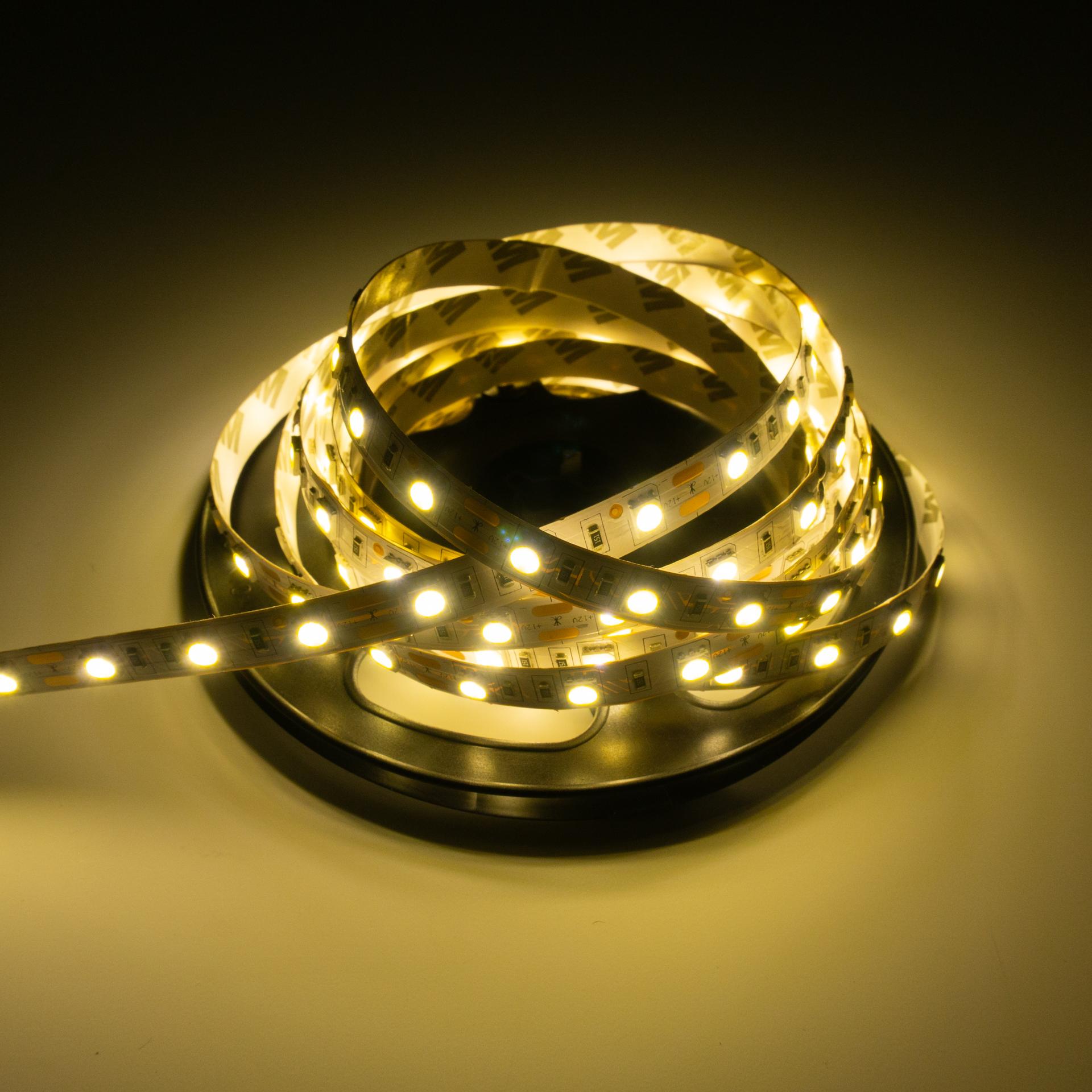 LED Szalag Beltéri 5050 60 LED/M 12V Meleg Fehér LS-5W20WW