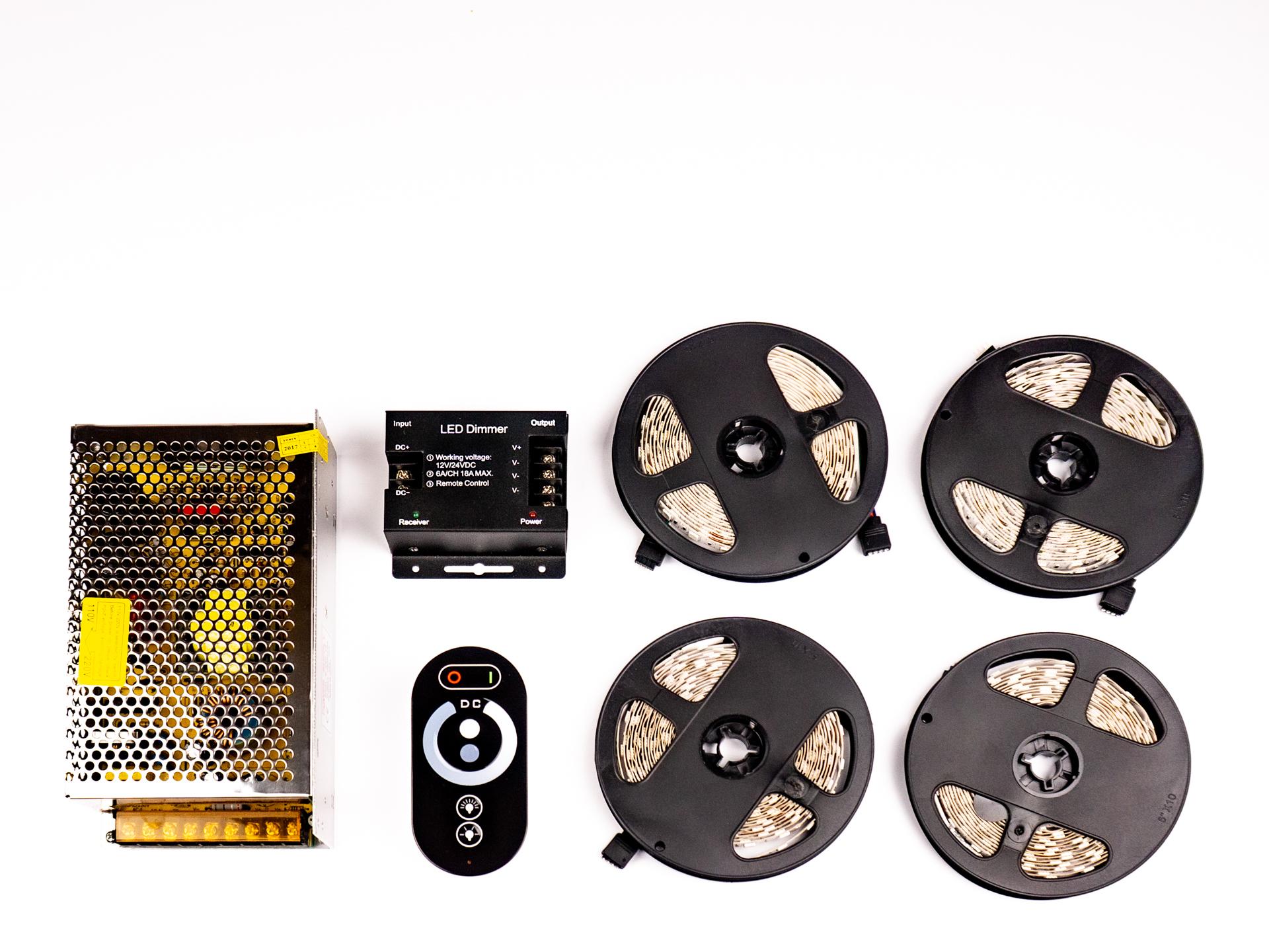 LED Szalag Szett 20 Méter Beltéri Meleg Fehér 5050 60 LED/M RF LSS-20WRF