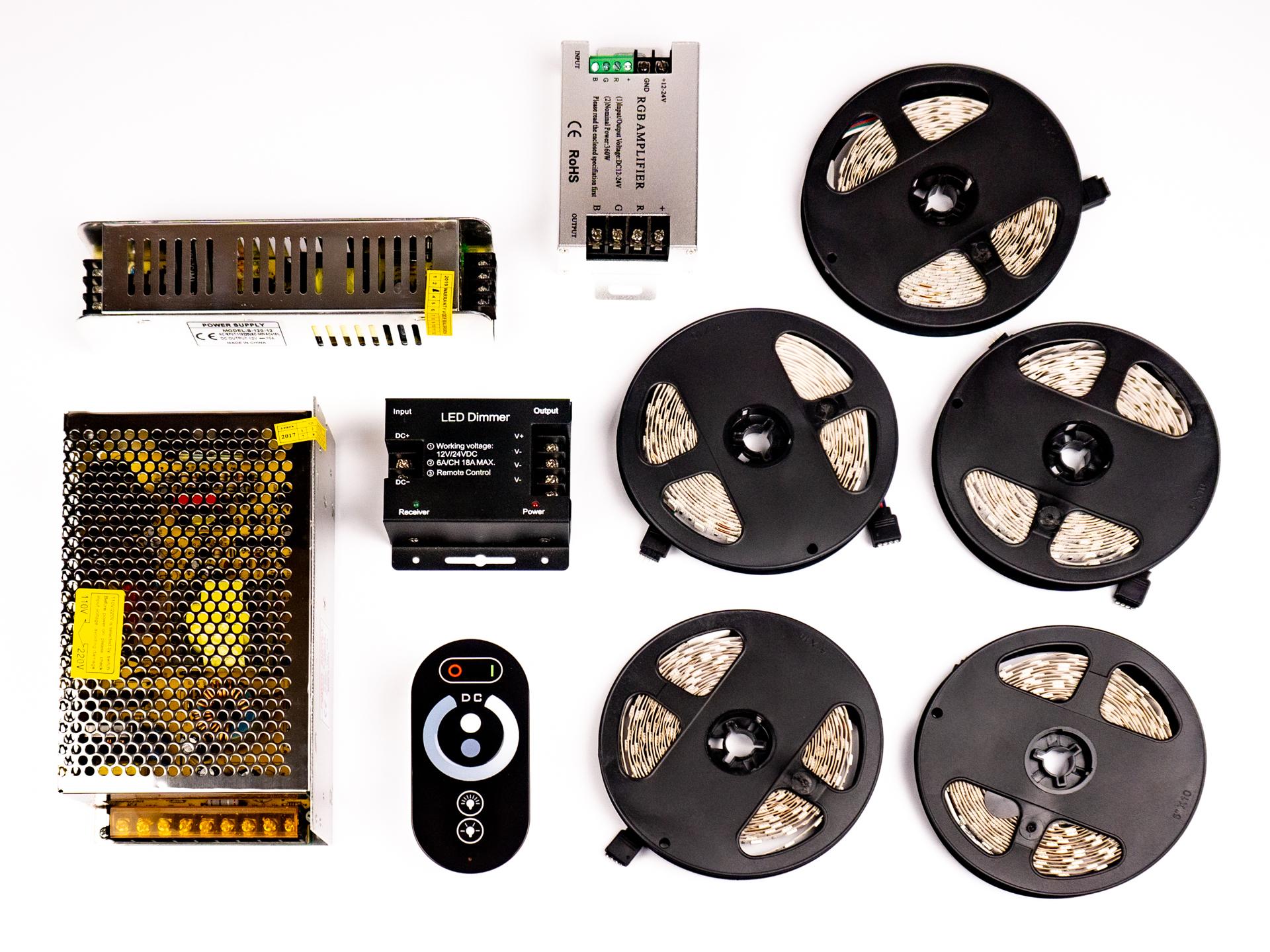 LED Szalag Szett 25 Méter Beltéri Meleg Fehér 5050 60 LED/M RF LSS-25WRF